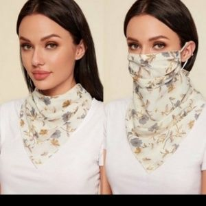 New - Floral Print Scarf/mask